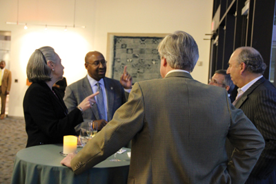 Philadelphia Mayor Michael Nutter pictured with Mary Robinson, John Soroko and Charles O'Donnell