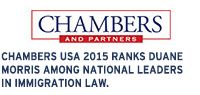 Chambers USA ranks Duane Morris among national leaders in immigration law