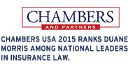 Chambers USA ranks Duane Morris among national leaders in insurance law