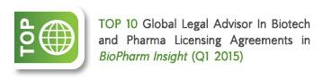 Top Global Legal Advisor in Biotech and Pharma Licensing Agreements