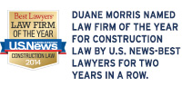 Duane Morris Named Law Firm of the Year for Construction Law by U.S. News-Best Lawyers