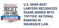 U.S. News-Best Lawyers Recognizes Duane Morris with Top-Tier National Ranking in Insurance Law