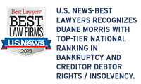 US News-Best Lawyers Recognizes Duane Morris with Top-Tier  National Ranking in Bankruptcy and Creditor Debtor Rights/Insolvency