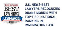 U.S. News-Best Lawyers Recognizes Duane Morris with Top-Tier National Ranking in Immigration Law