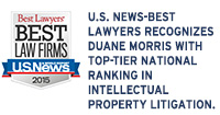 U.S. News-Best Lawyers Recognizes Duane Morris with Top-Tier National Ranking in IP Litigation