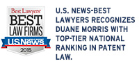 U.S. News-Best Lawyers Recognizes Duane Morris with Top-Tier National Ranking in Patent Law