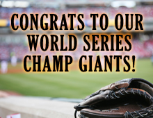 Congratulations to our World Series Champs Giants